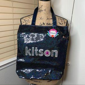 NWT Kitson Sequins Book Bag Tote